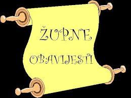 """ŽUPNE OBAVIJESTI ZA 22. NEDJELJU /GOD. """"C""""/ 28. kolovoza 2016."""